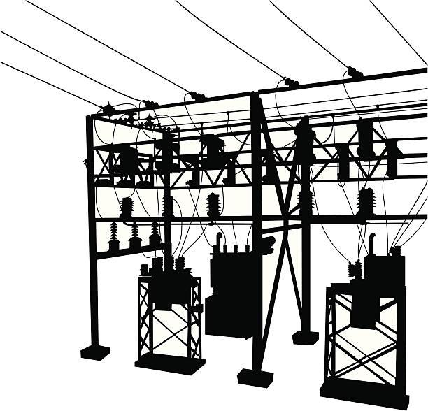 High Voltage Transformer Clip Art, Vector Images
