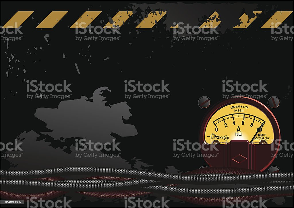 Electrical grunge background royalty-free stock vector art