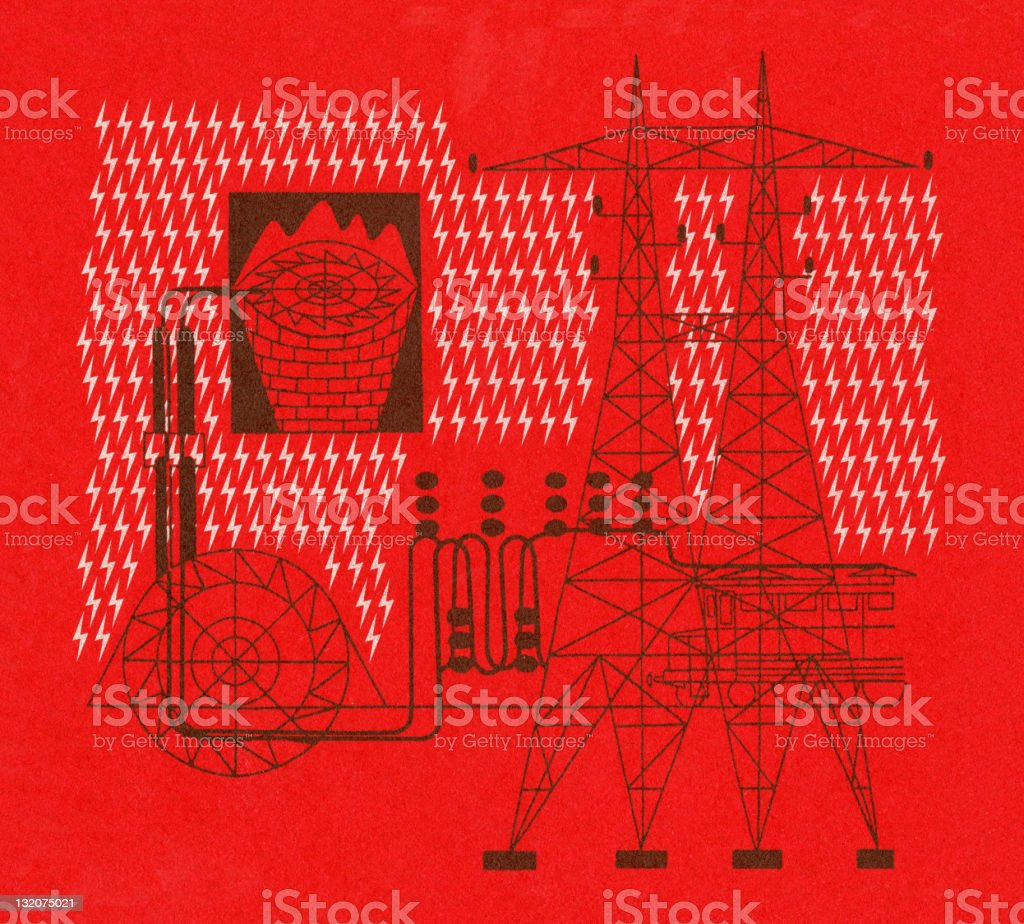 Electricity Towers royalty-free stock vector art