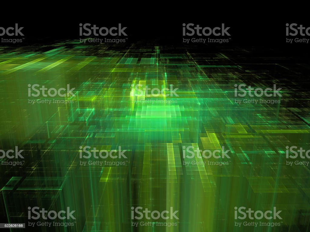 electronic city, futuristic background vector art illustration