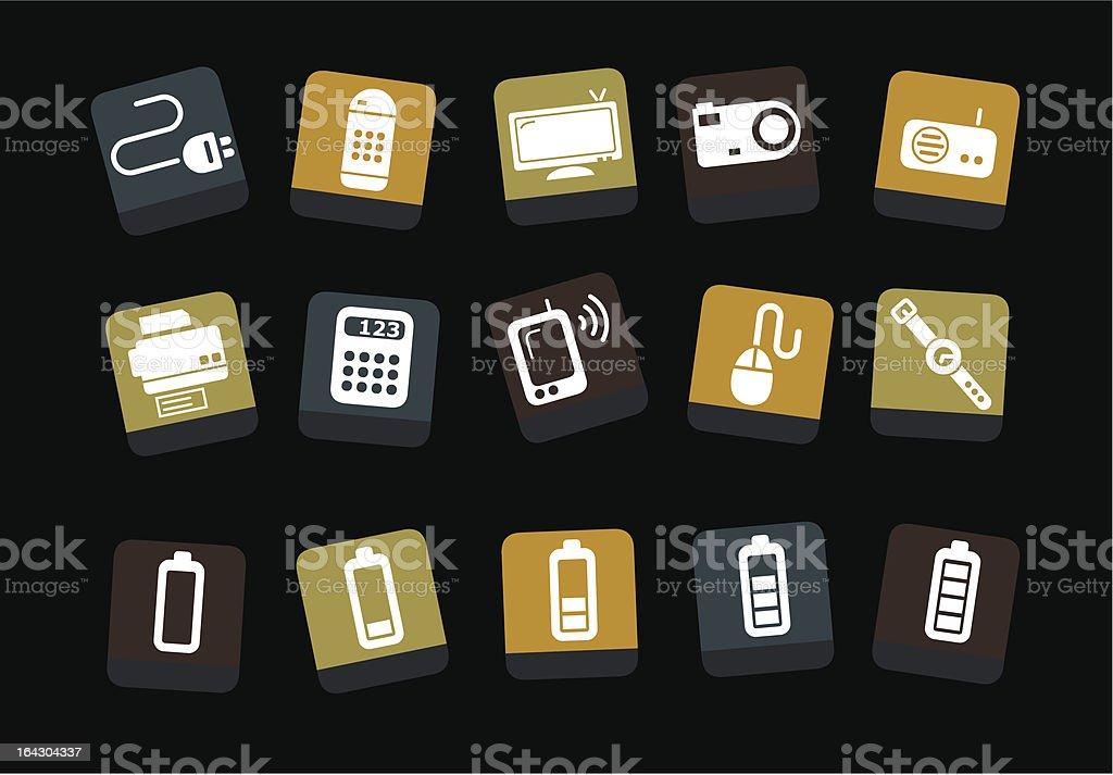 Electronic Icon Set royalty-free stock vector art