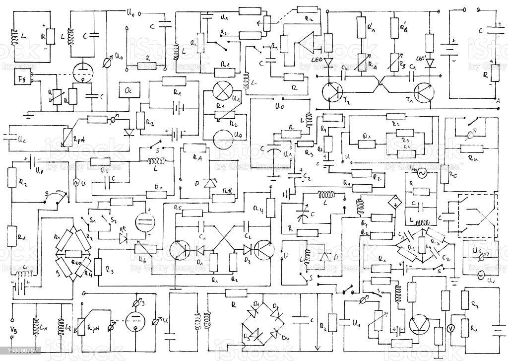 Electronics background vector art illustration