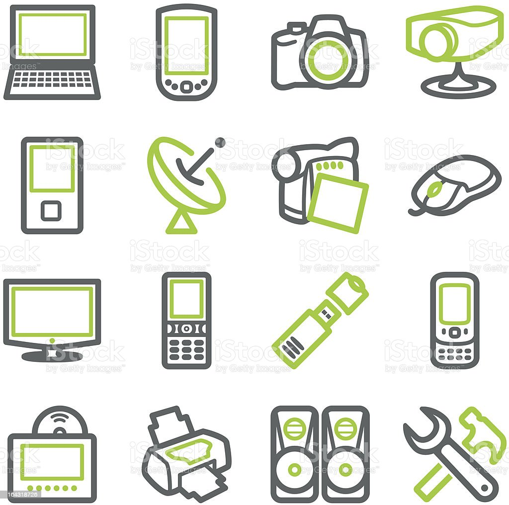 Electronics icons for web. royalty-free stock vector art