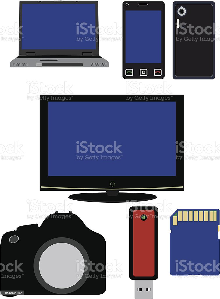 Electronics Illustration royalty-free stock vector art