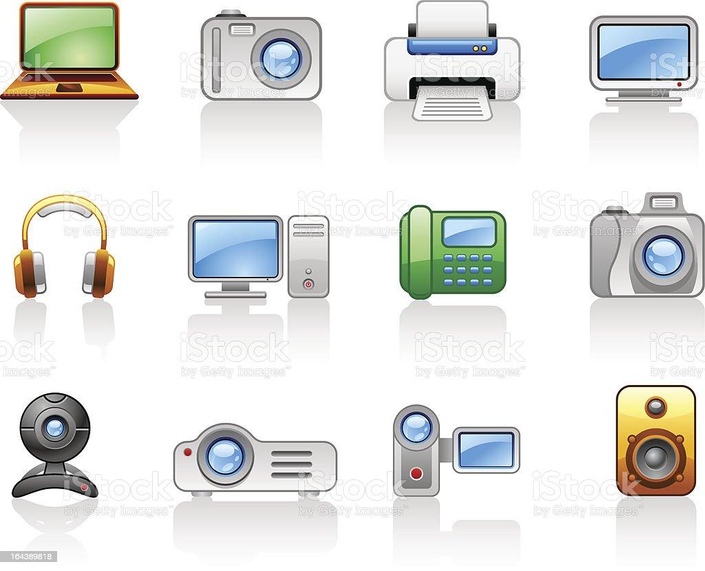 Electronics_ Computers_ Multimedia_ icon set royalty-free stock vector art