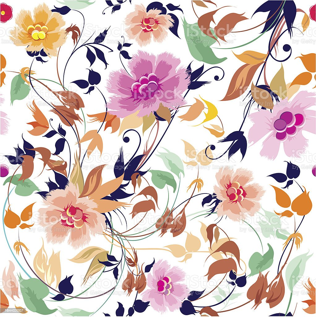 Elegance seamless floral pattern royalty-free stock vector art