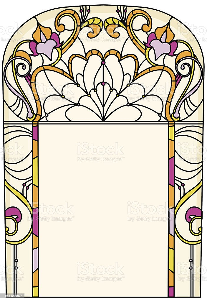 Elegant design for vitrail/stained glass royalty-free stock vector art