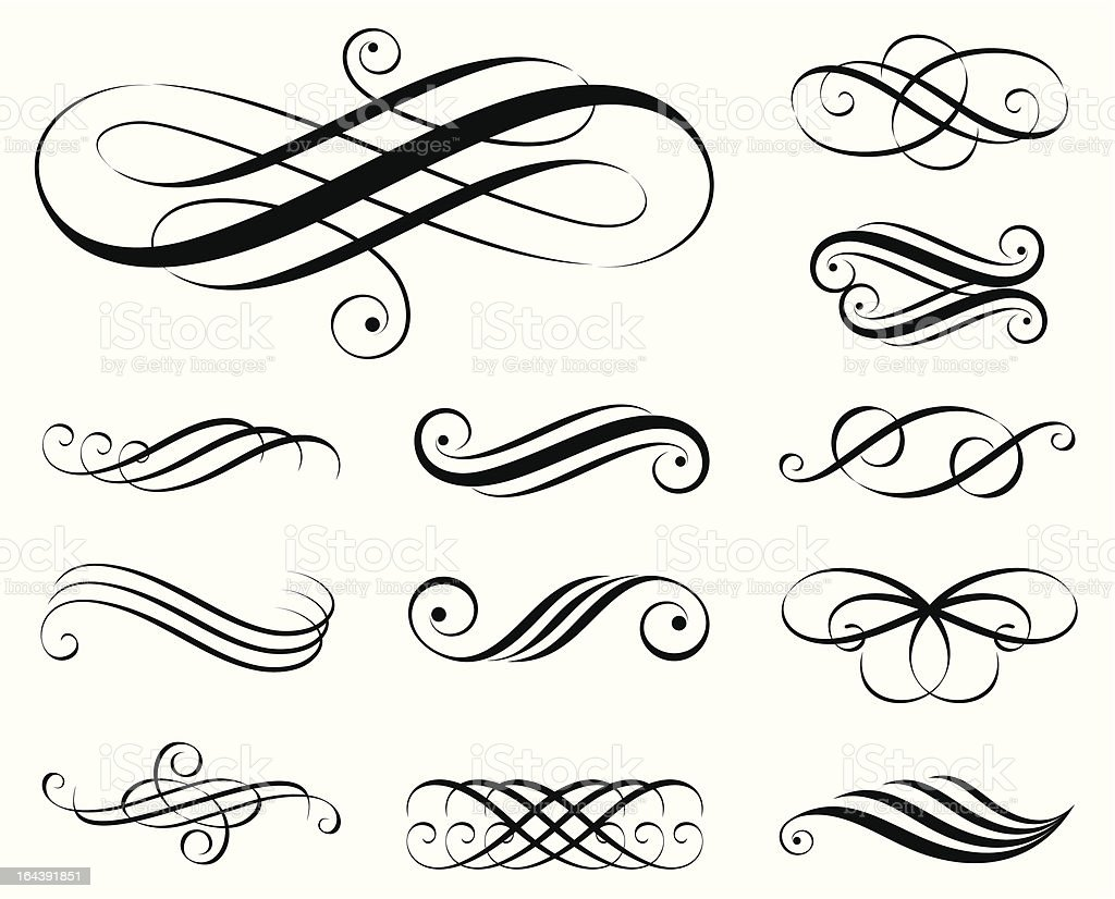 Elegant Elements vector art illustration