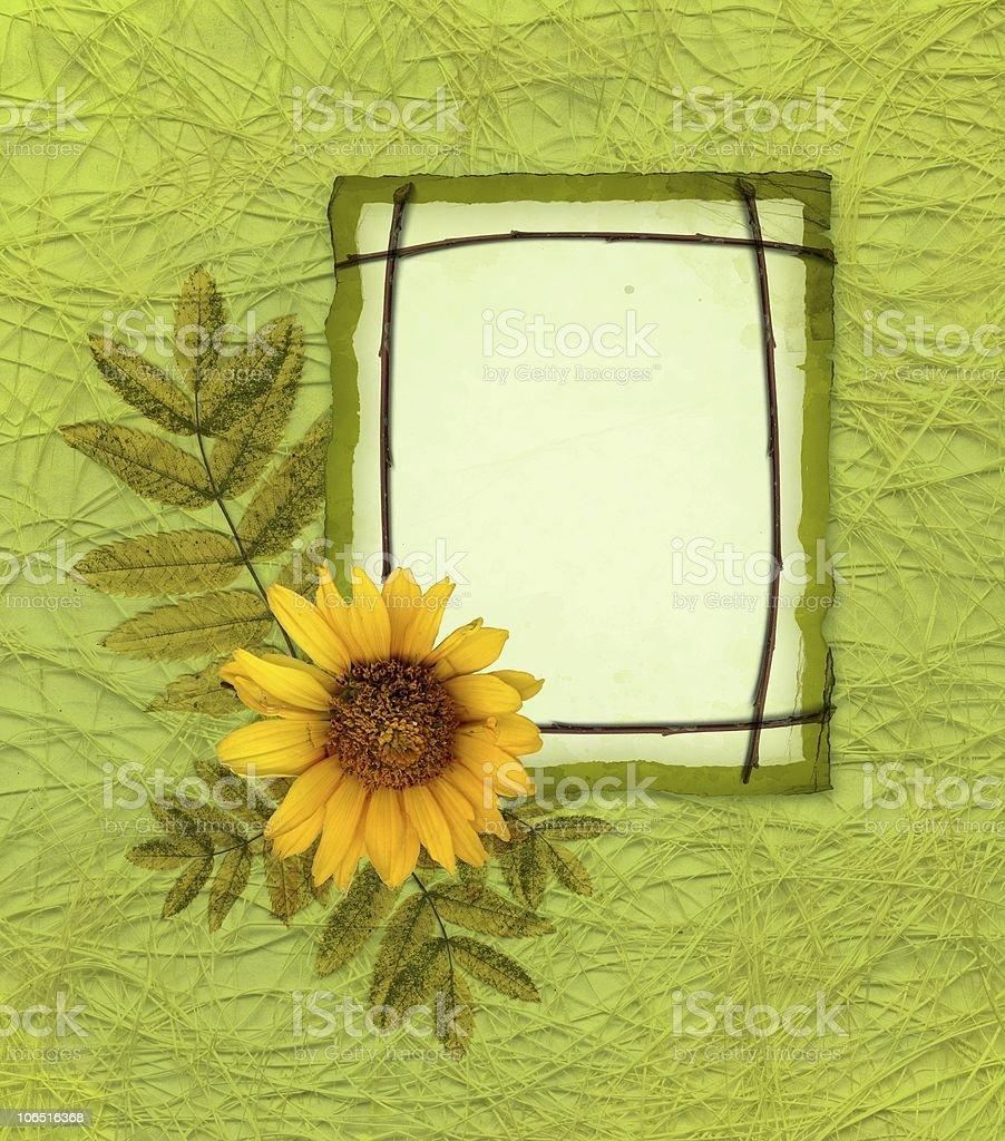 Elegant framework with flower royalty-free stock vector art