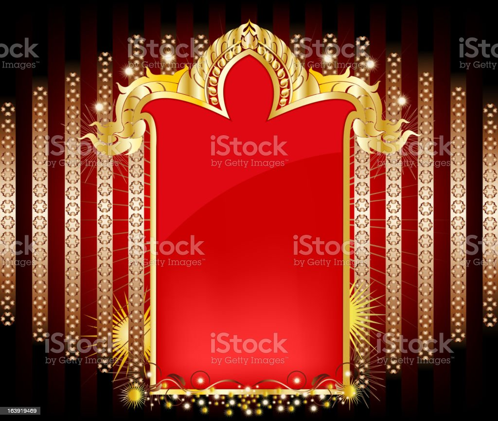 Elegant gold pattern and empty space royalty-free stock vector art