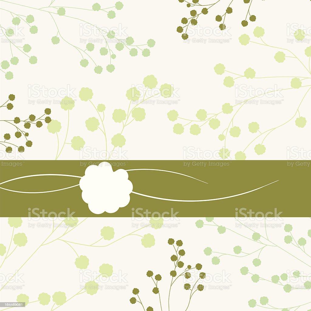 Elegant light blue flora background royalty-free stock vector art