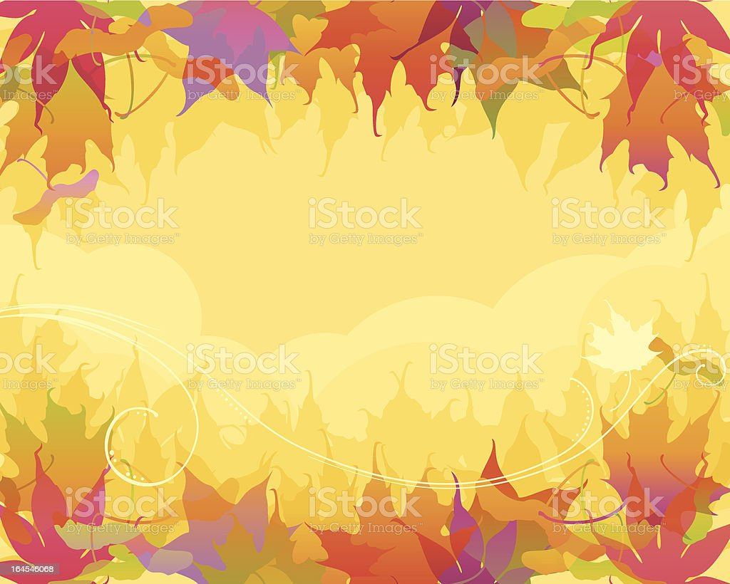 Elegant Maple Leaves vector art illustration