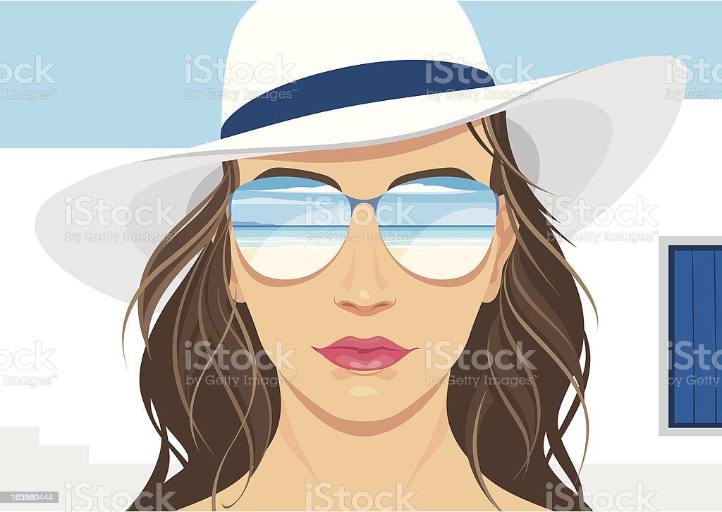 Elegant tourist girl royalty-free stock vector art