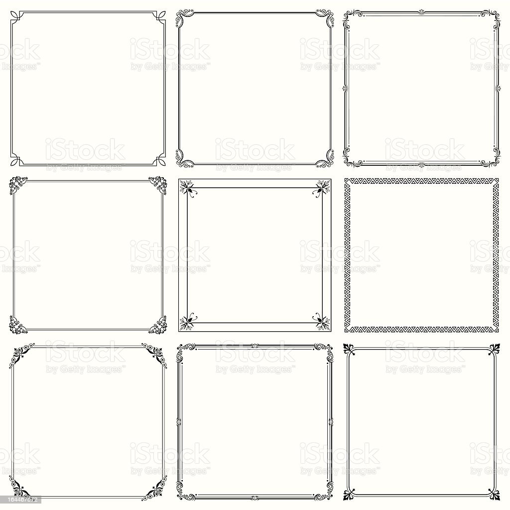 Elegant vector frame royalty-free stock vector art