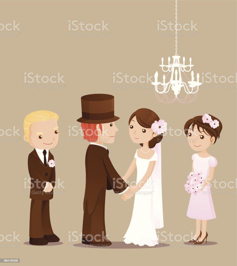 elegant wedding vector art illustration