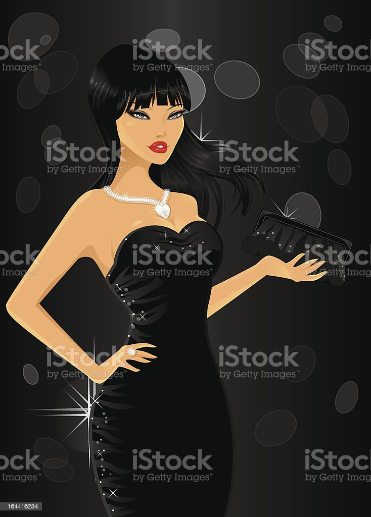 Elegant woman royalty-free stock vector art