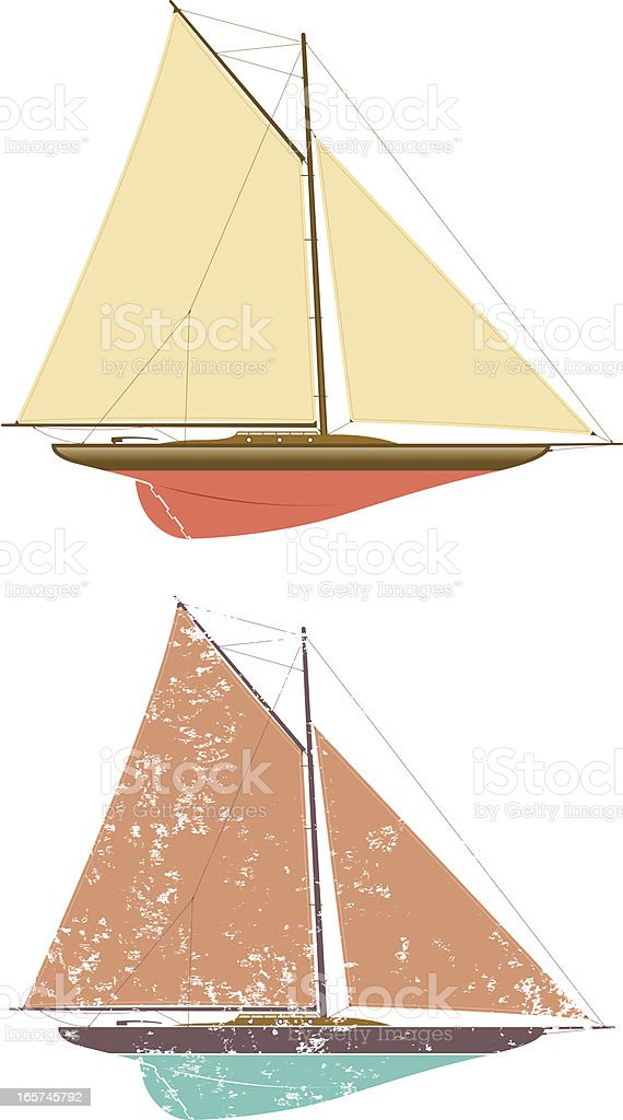 Elegant yacht vector art illustration