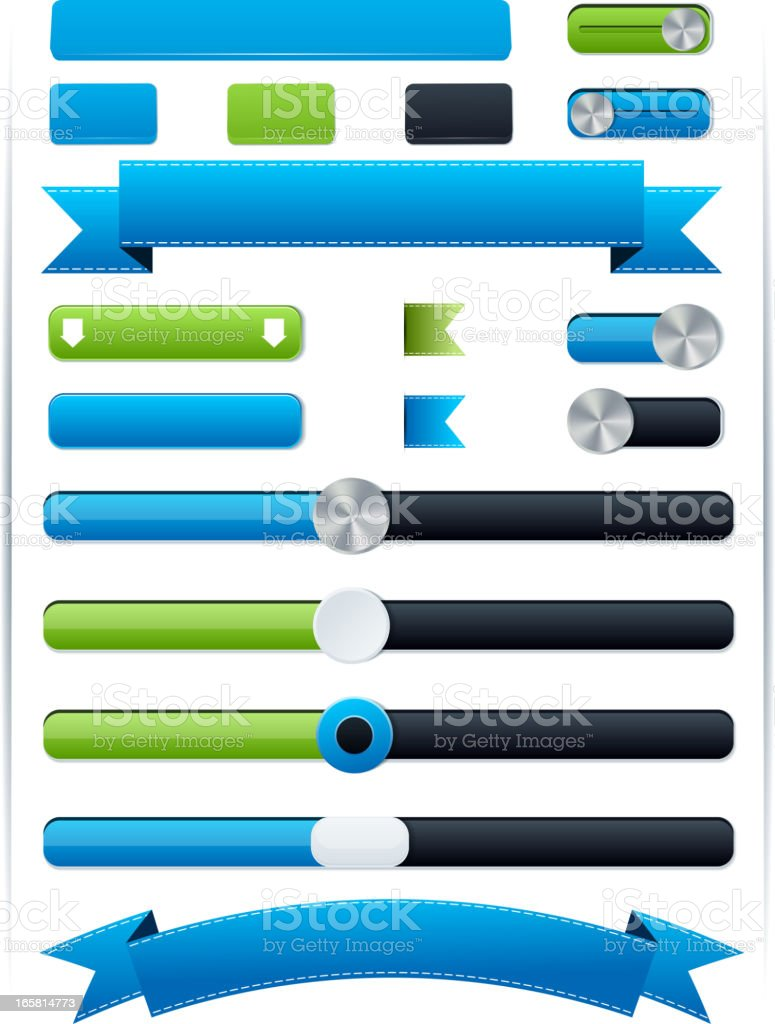 Elements for web design royalty-free stock vector art