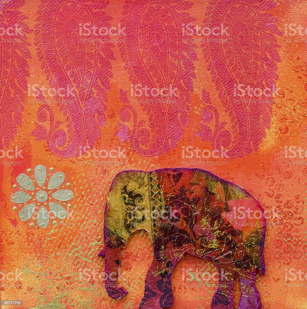 elephant artwork vector art illustration