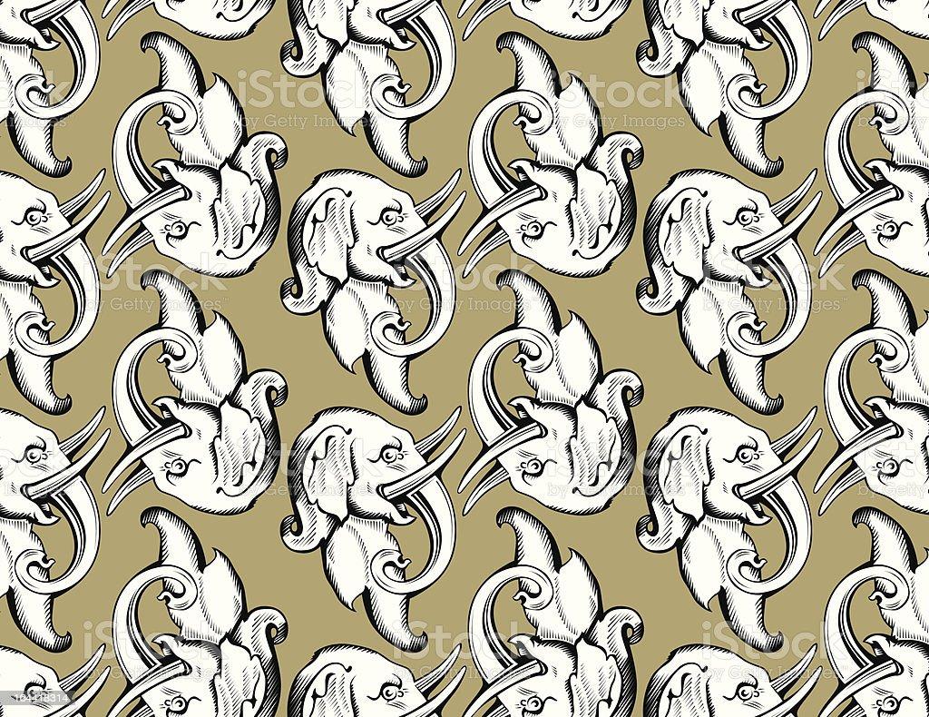elephant head pattern royalty-free stock vector art