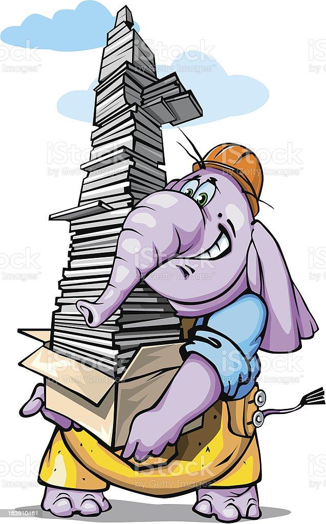 elephant_strong royalty-free stock vector art