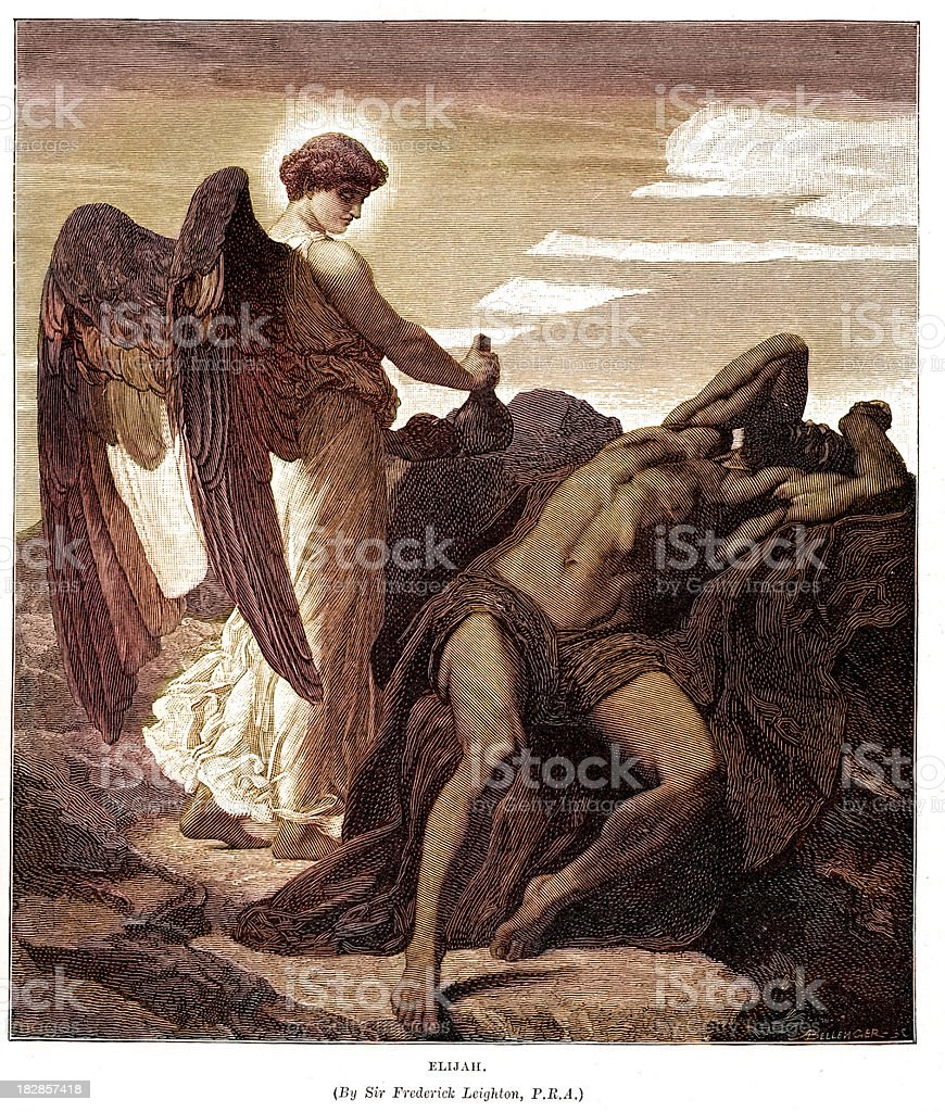 Elijah vector art illustration