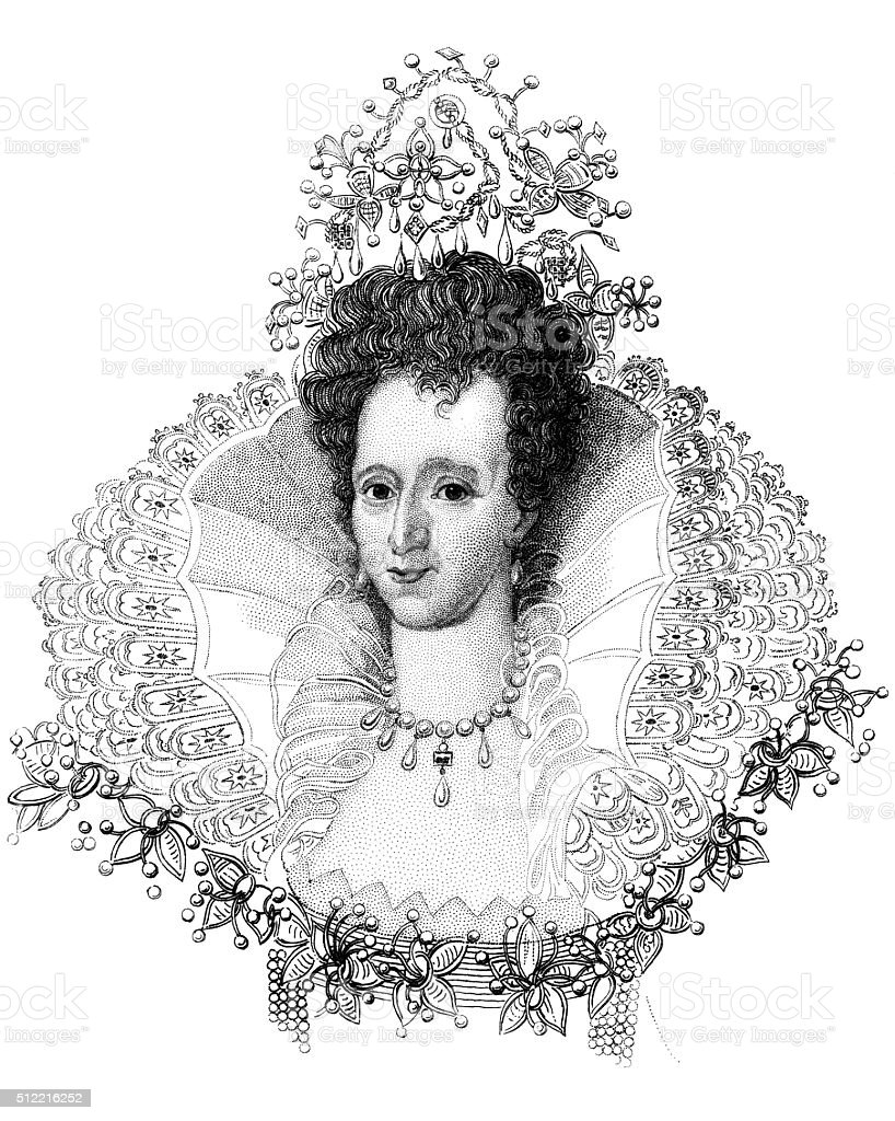 Elizabeth I vector art illustration