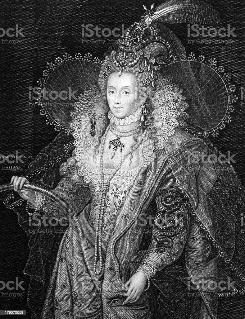 Elizabeth I of England royalty-free stock vector art