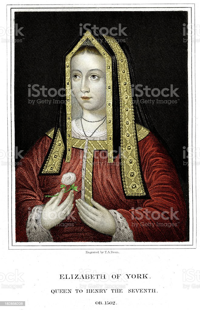 Elizabeth of York royalty-free stock vector art