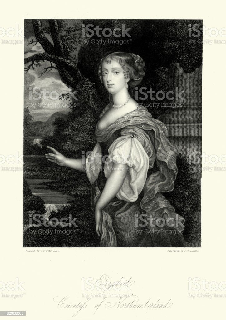 Elizabeth Percy, Countess of Northumberland vector art illustration
