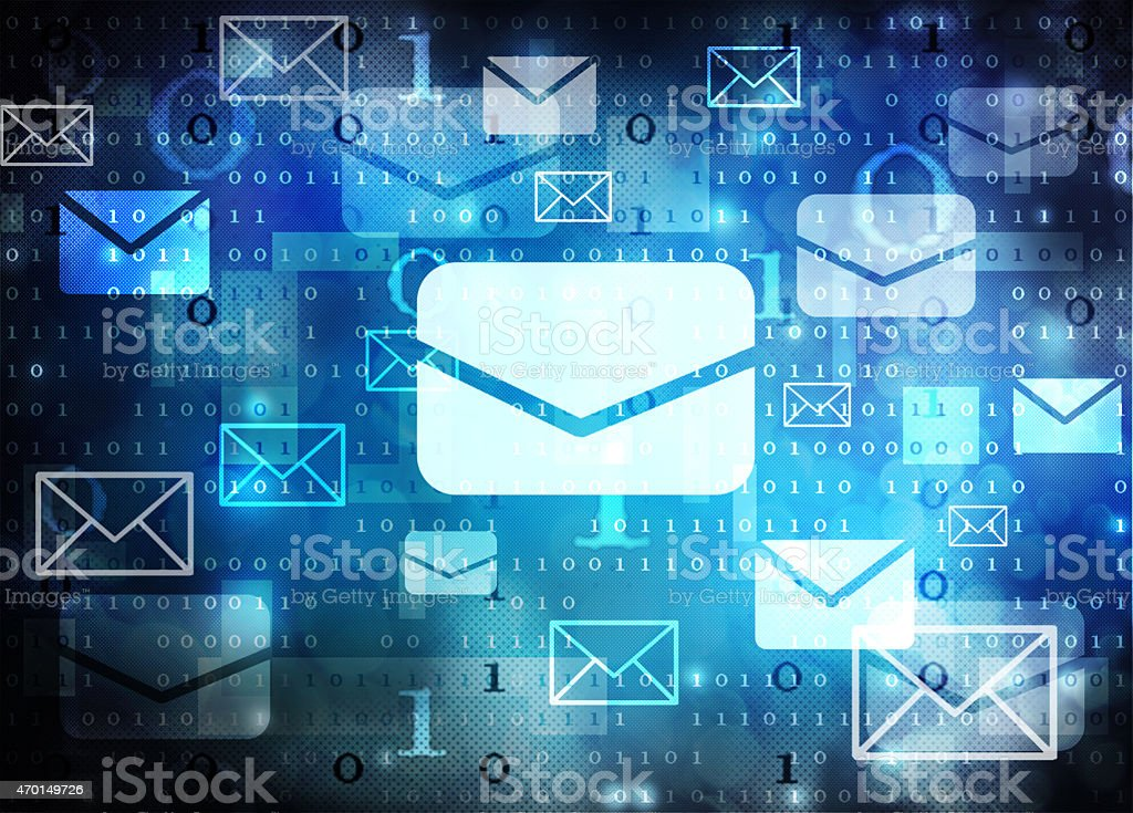 email abstract background vector art illustration