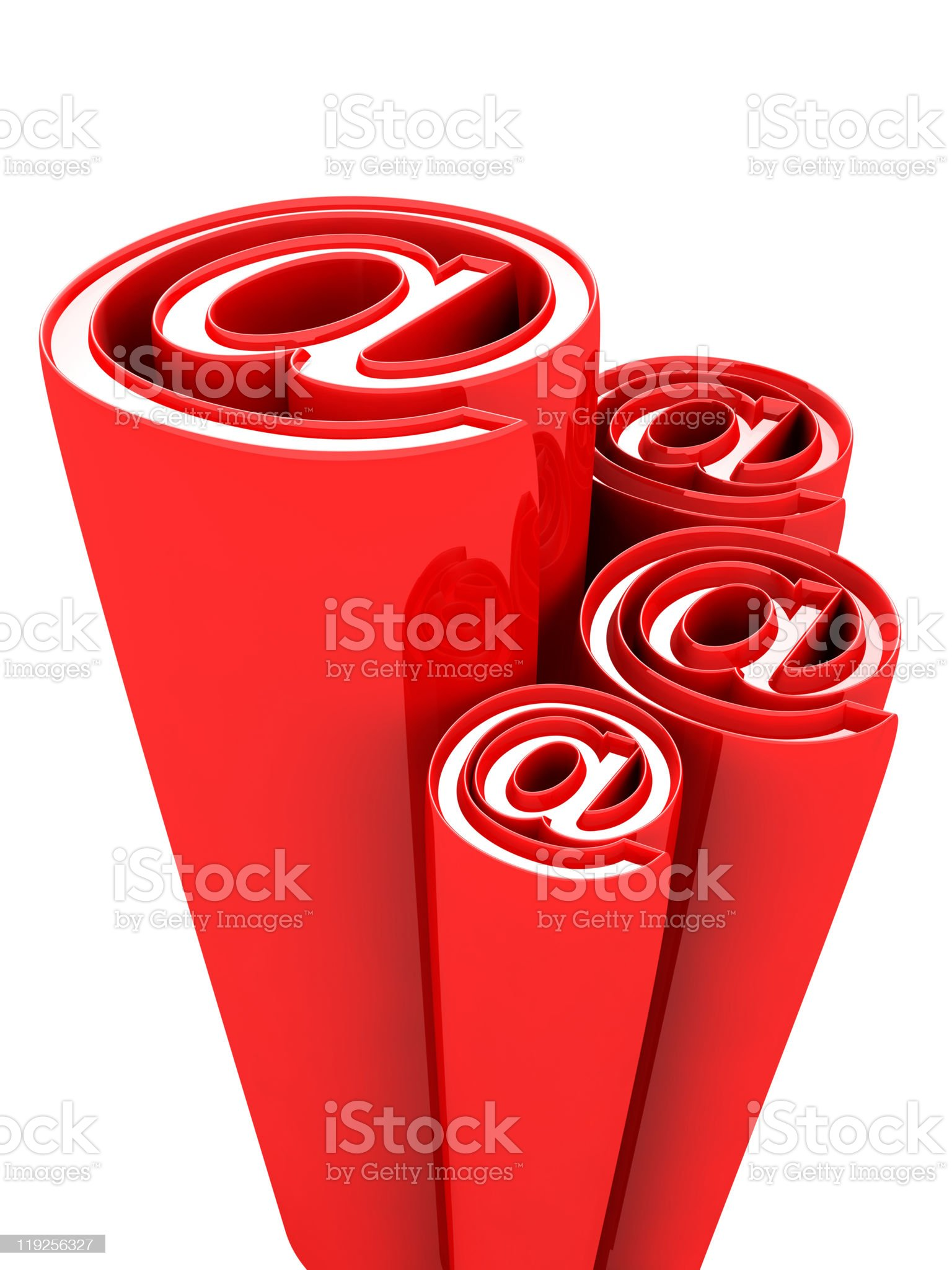 Email alias concept symbol decorative design element royalty-free stock vector art