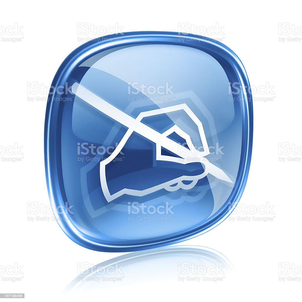 email icon blue glass, isolated on white background. royalty-free stock vector art