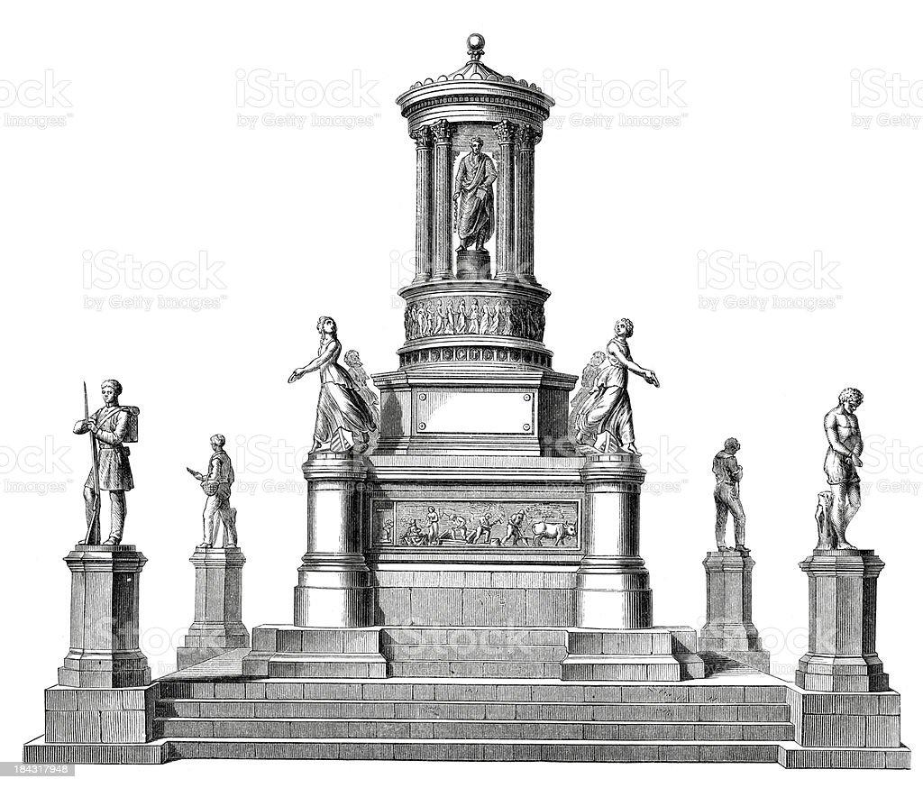 Emancipation Memorial royalty-free stock vector art