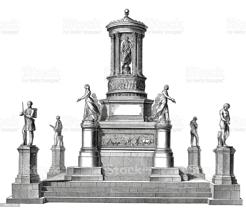 Emancipation Memorial vector art illustration