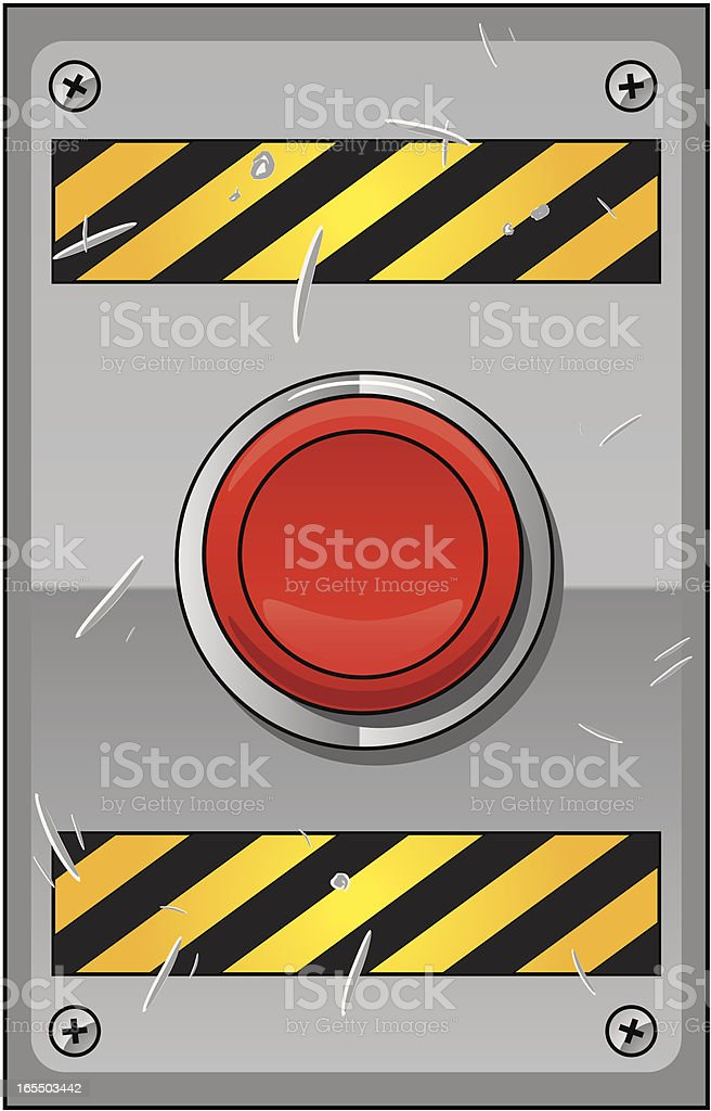 emergency button royalty-free stock vector art