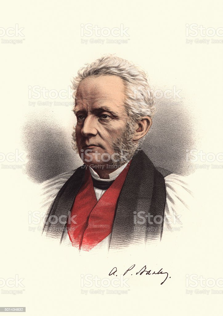Eminent Victorians - Arthur Penrhyn Stanley vector art illustration