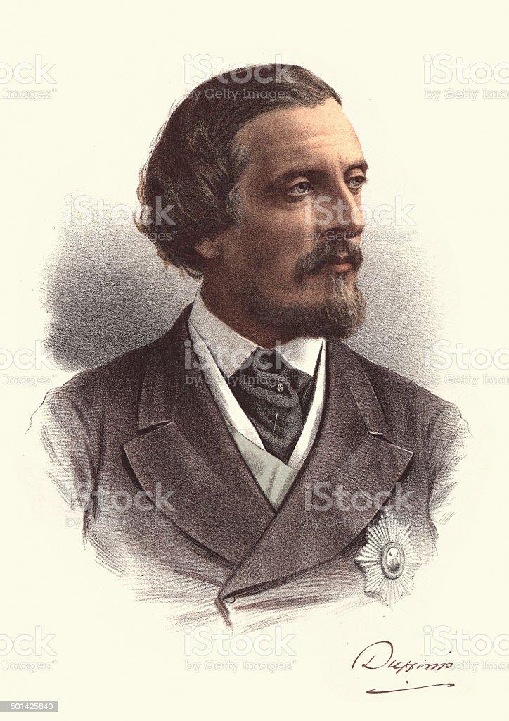 Eminent Victorians - Frederick Hamilton-Temple-Blackwood, 1st Ma vector art illustration