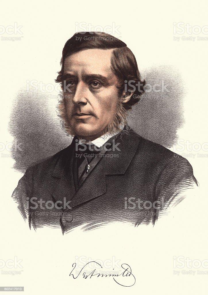 Eminent Victorians - Hugh Grosvenor, 1st Duke of Westminster vector art illustration