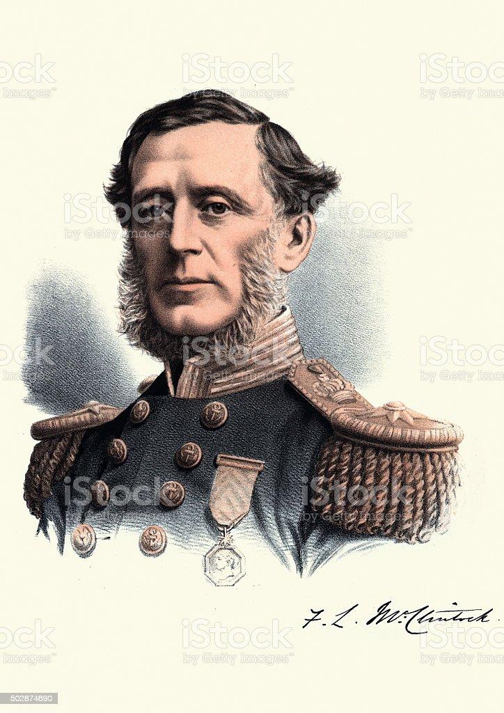 Eminent Victorians - Portrait of Admiral Sir Francis McClintock vector art illustration