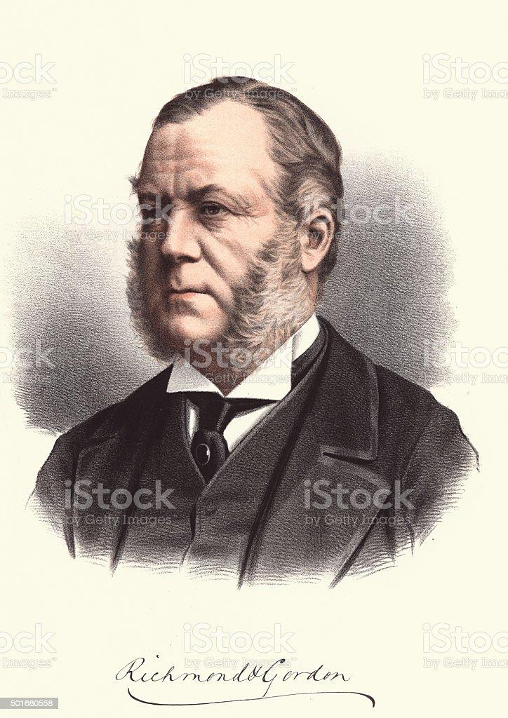 Eminent Victorians - Portrait of Charles Gordon-Lennox, 6th Duke vector art illustration
