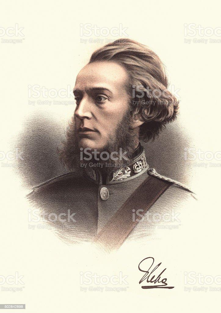 Eminent Victorians - Portrait of Francis Charteris, Earl of Wemy vector art illustration