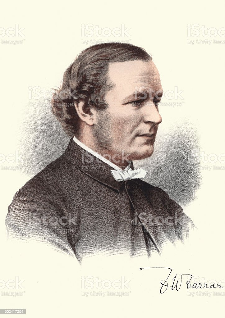 Eminent Victorians - Portrait of Frederic William Farrar vector art illustration