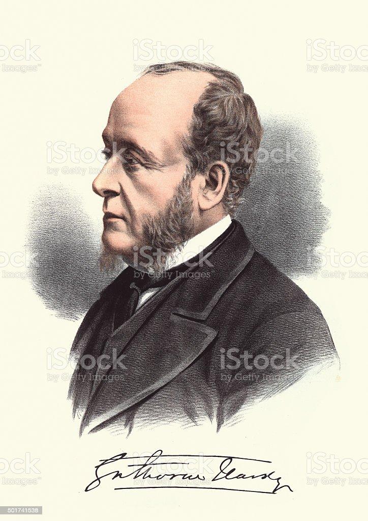 Eminent Victorians - Portrait of Gathorne Gathorne-Hardy, 1st Ea vector art illustration