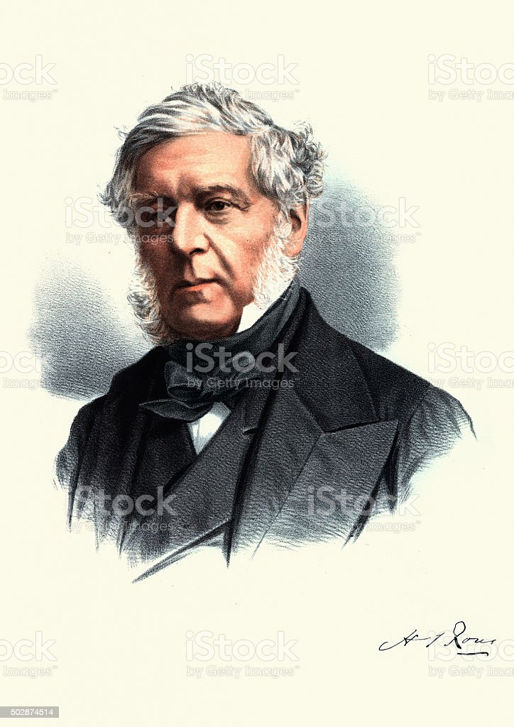 Eminent Victorians - Portrait of Henry John Rous vector art illustration