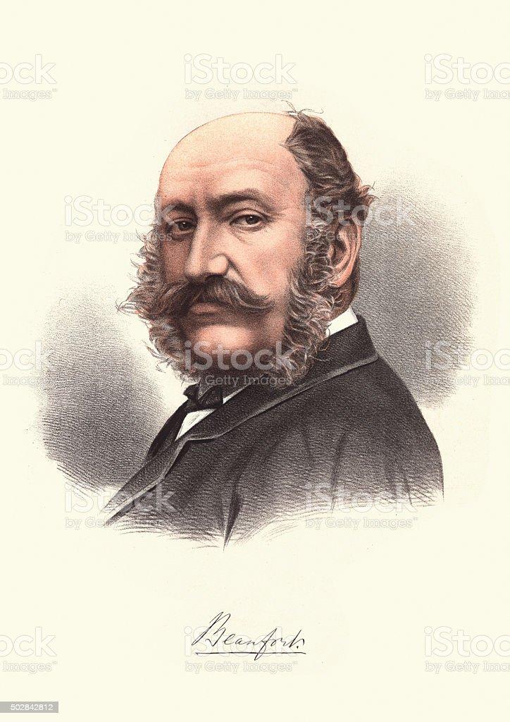 Eminent Victorians - Portrait of Henry Somerset Duke of Beaufort vector art illustration