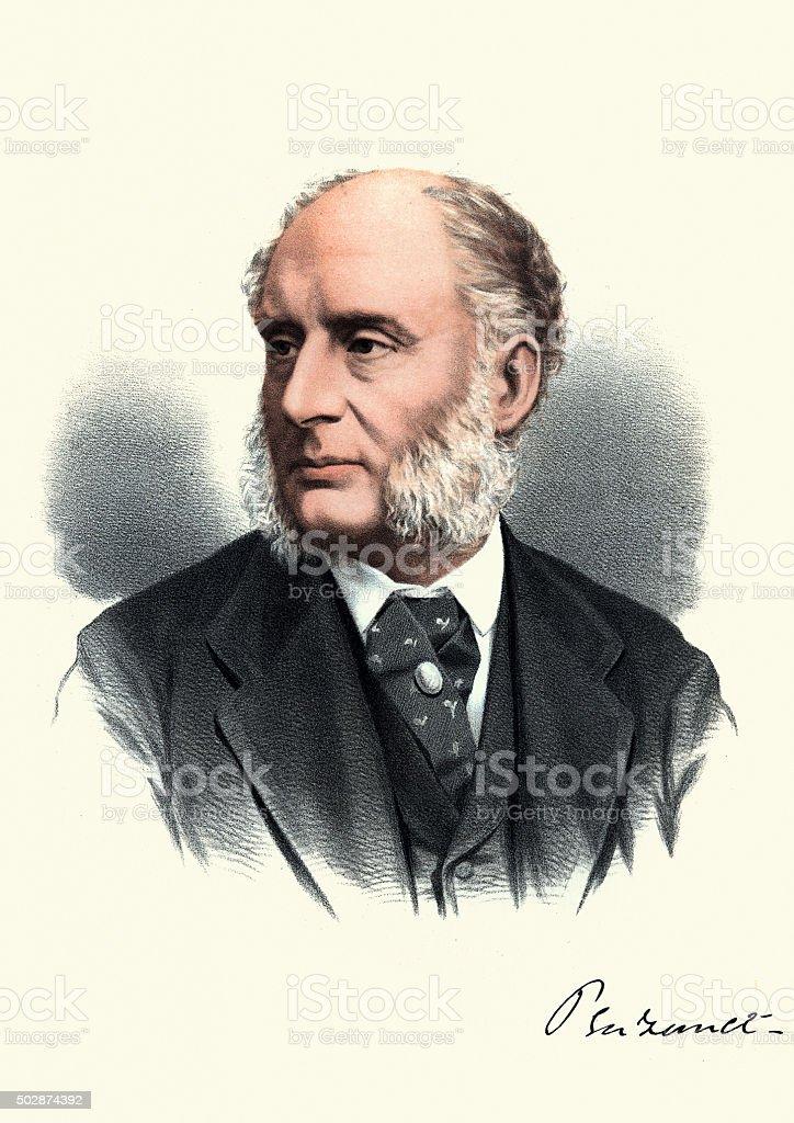 Eminent Victorians - Portrait of James Wilde, 1st Baron Penzance vector art illustration