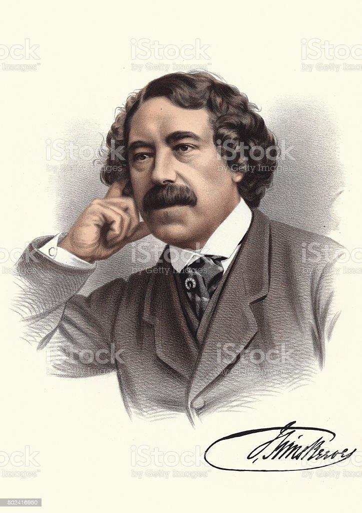 Eminent Victorians - Portrait of John Sims Reeves vector art illustration