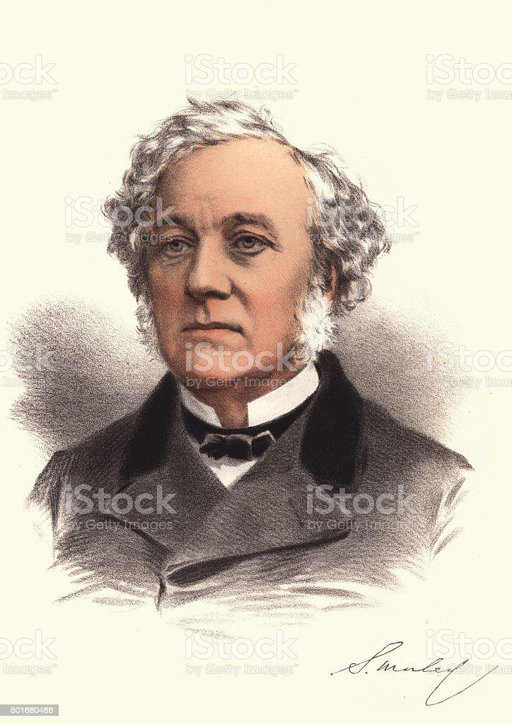Eminent Victorians - Portrait of Samuel Morley vector art illustration