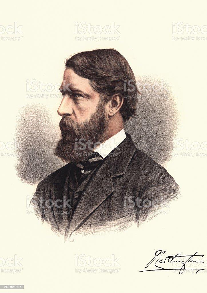 Eminent Victorians - Portrait of Spencer Cavendish, 8th Duke of vector art illustration